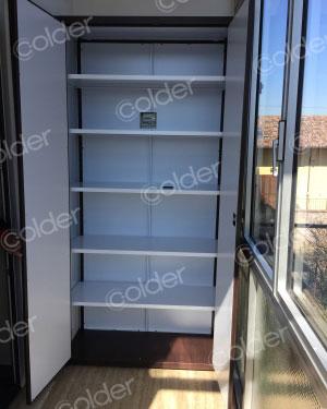 Produzione armadi da balcone e scarpiere salva spazio torino - Armadi da esterno su misura ...
